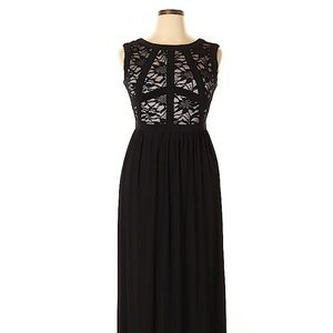 Women's NWT R&M Richards Black Tan Lace Dress 12